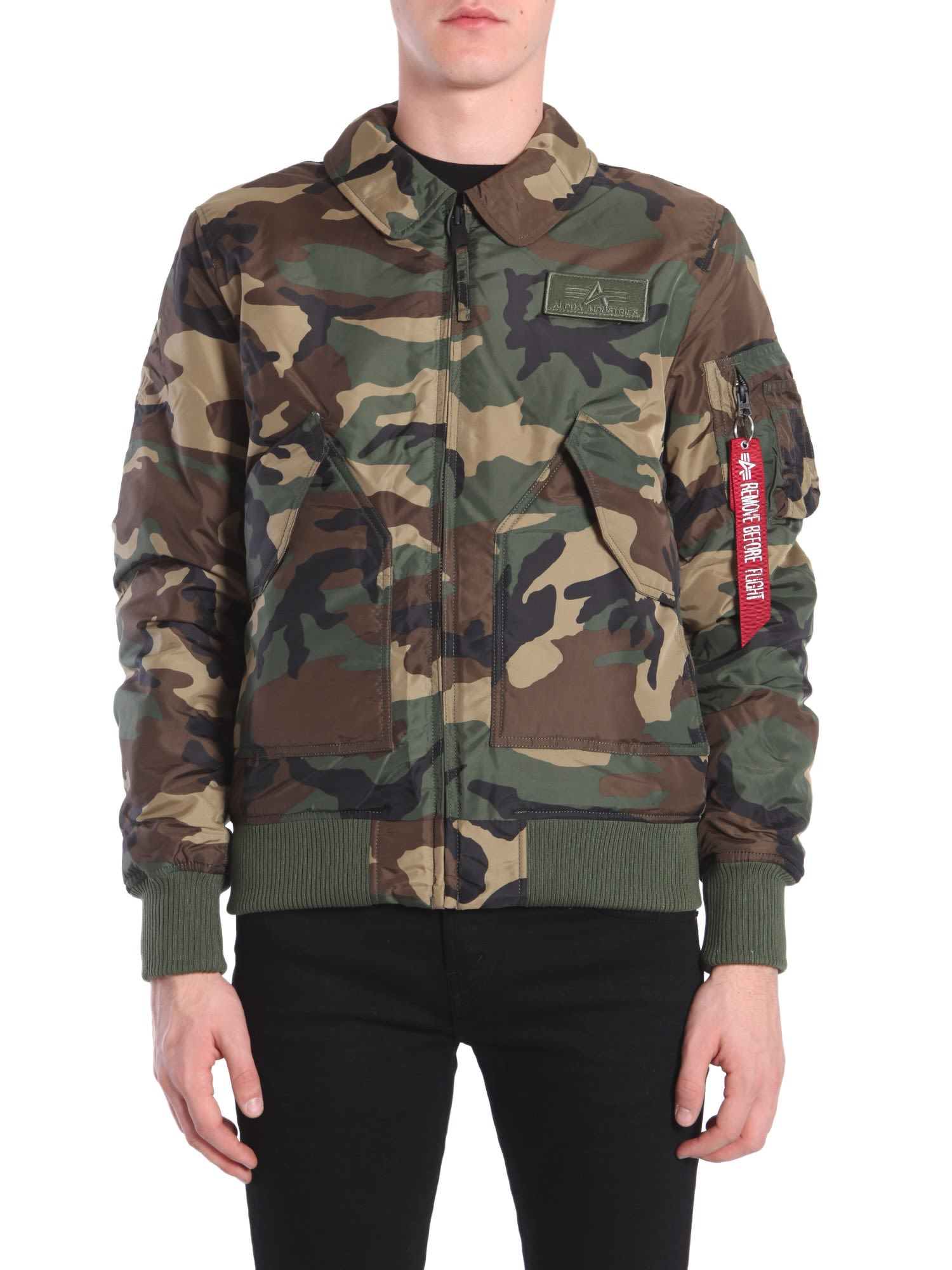 Bomber Jacket In Technical Fabric
