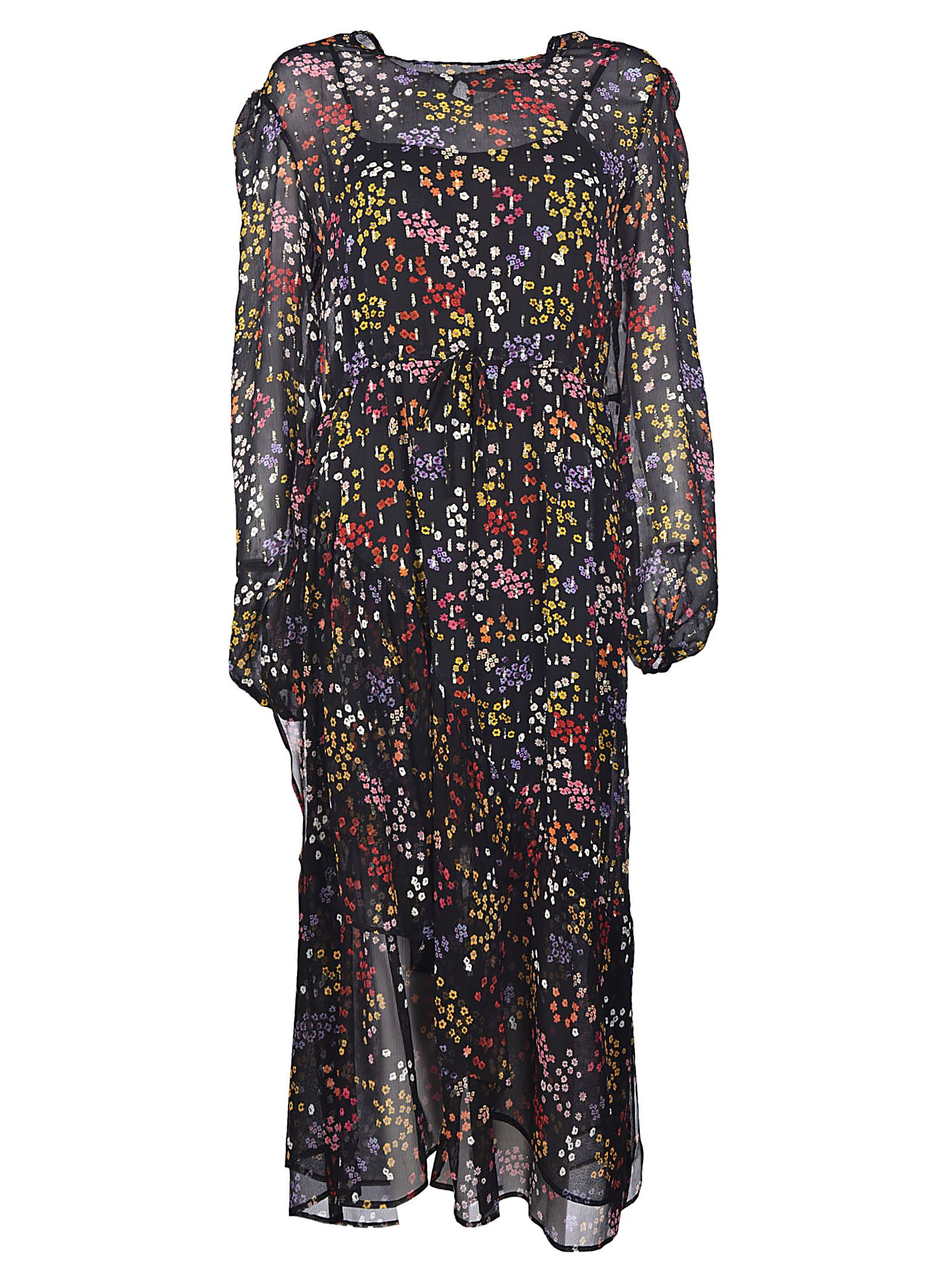 See By Chloé Sheer Floral Midi Dress