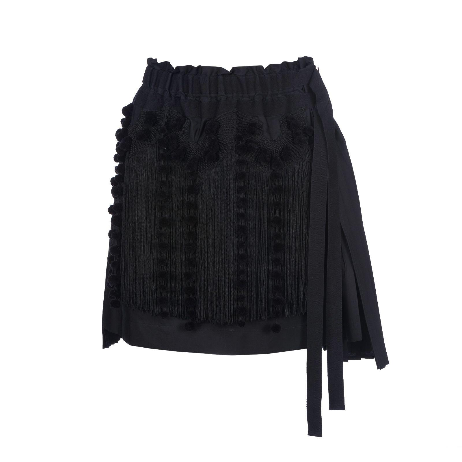 N°21 Fringed Asymmetric Skirt