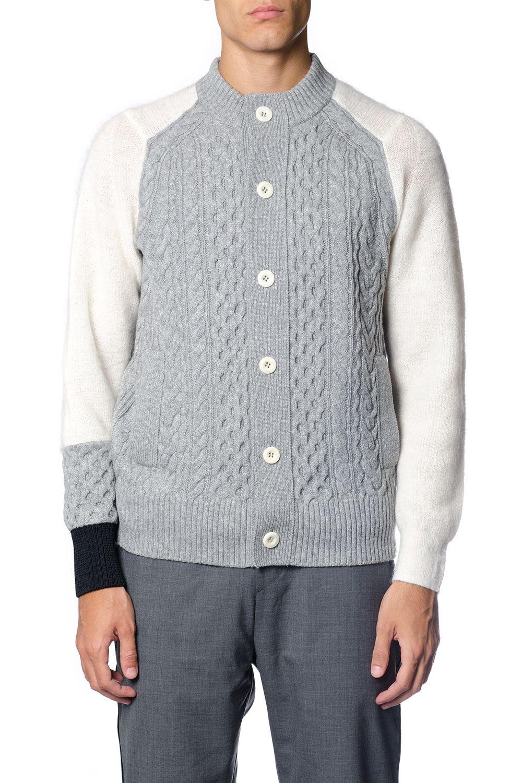Sacai Grey Wool Cardigan