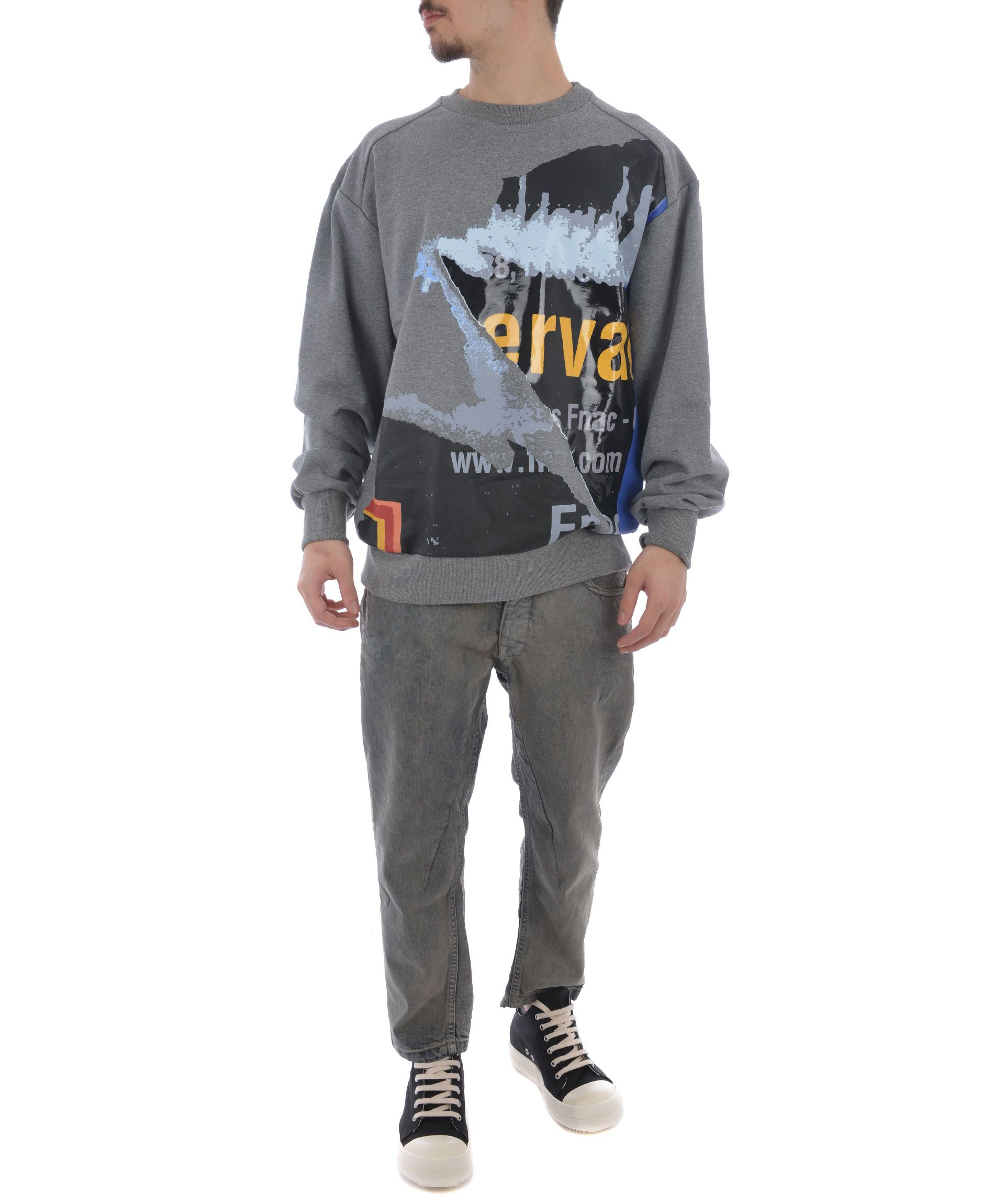 Juun.j Zip Printed Sweatshirt