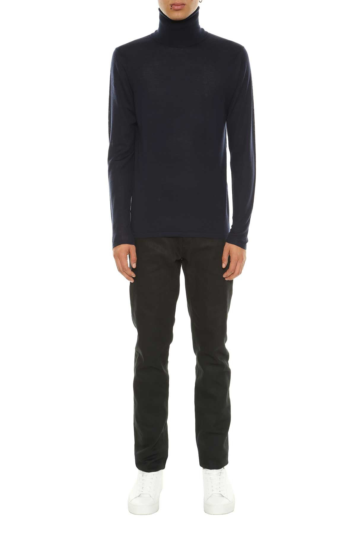 acne studios acne studios acne studios 39 norton 39 turtleneck sweater navy men 39 s sweaters. Black Bedroom Furniture Sets. Home Design Ideas