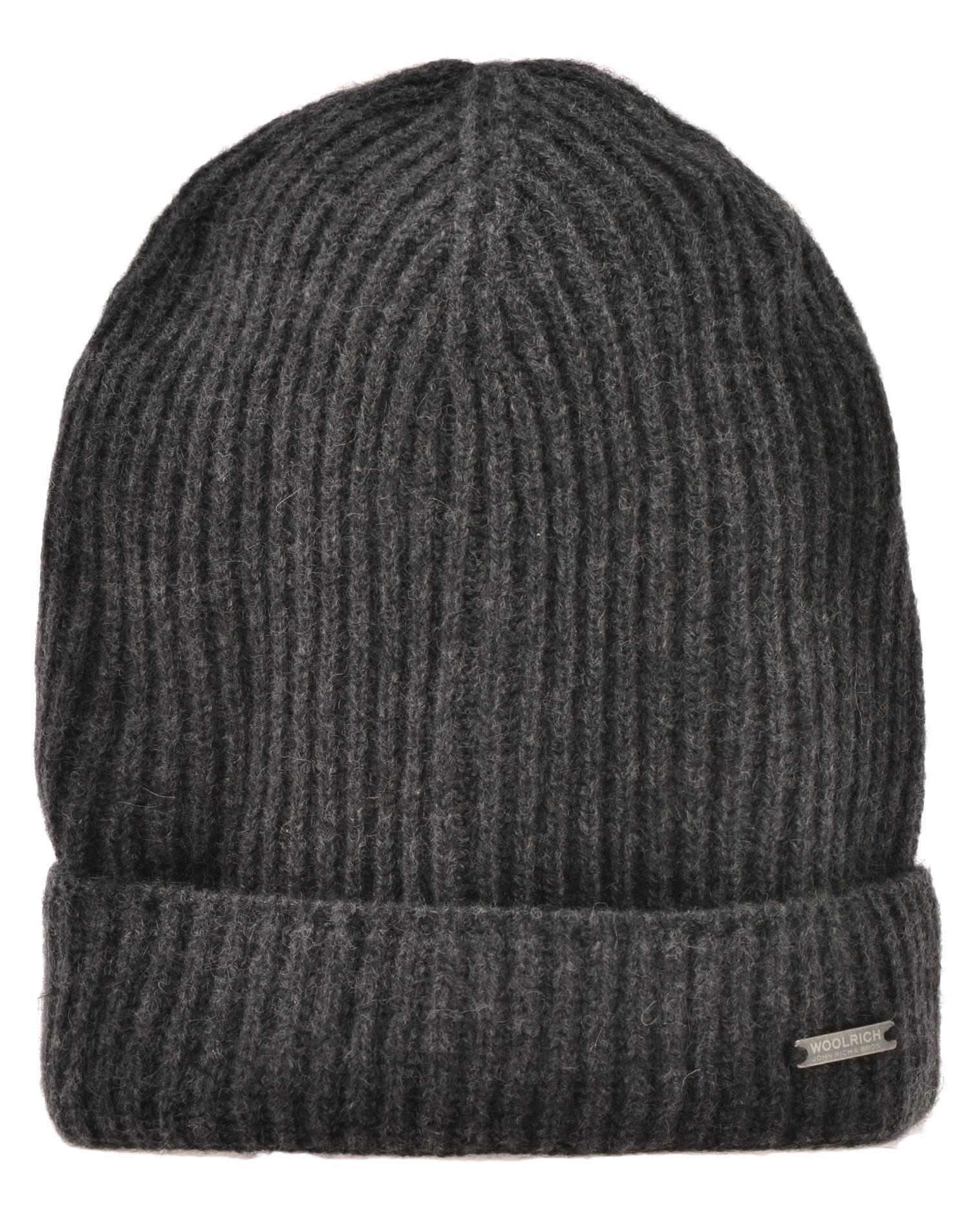Woolrich Cashmere Beanie Hat In Grey  1b87d8f31b0