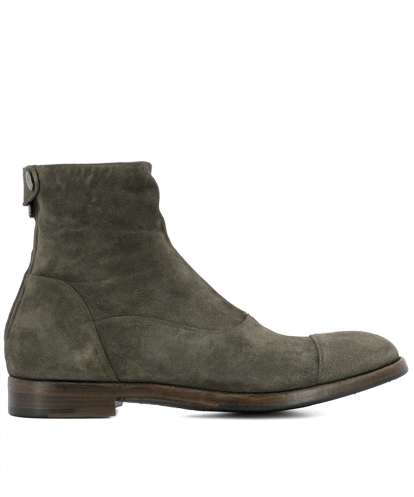 alberto fasciani grey suede ankle boots grey s