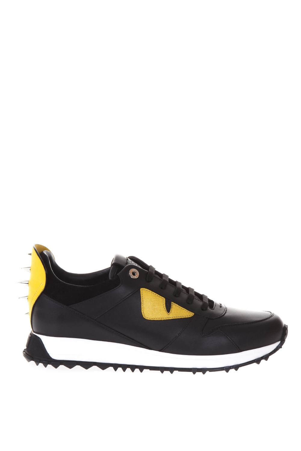Fendi Bag Bugs Leather Sneakers