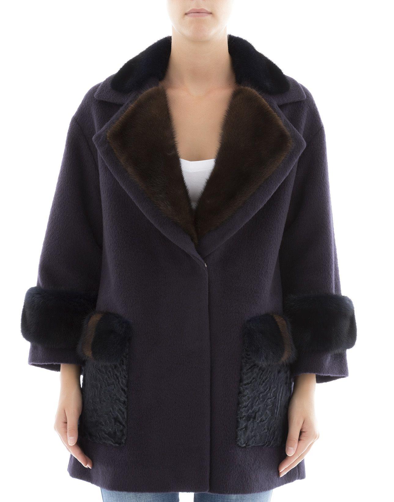 Blue Alpaca Coat