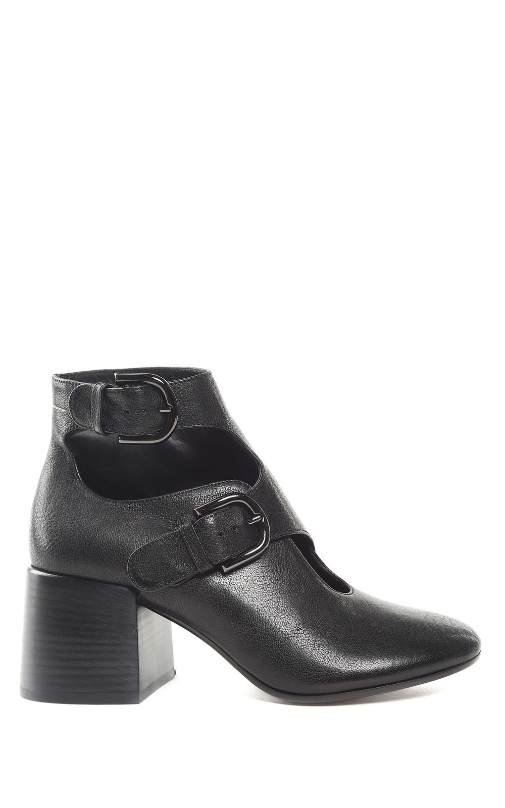 MM6 Maison Margiela Buckled Leather Ankle Boots