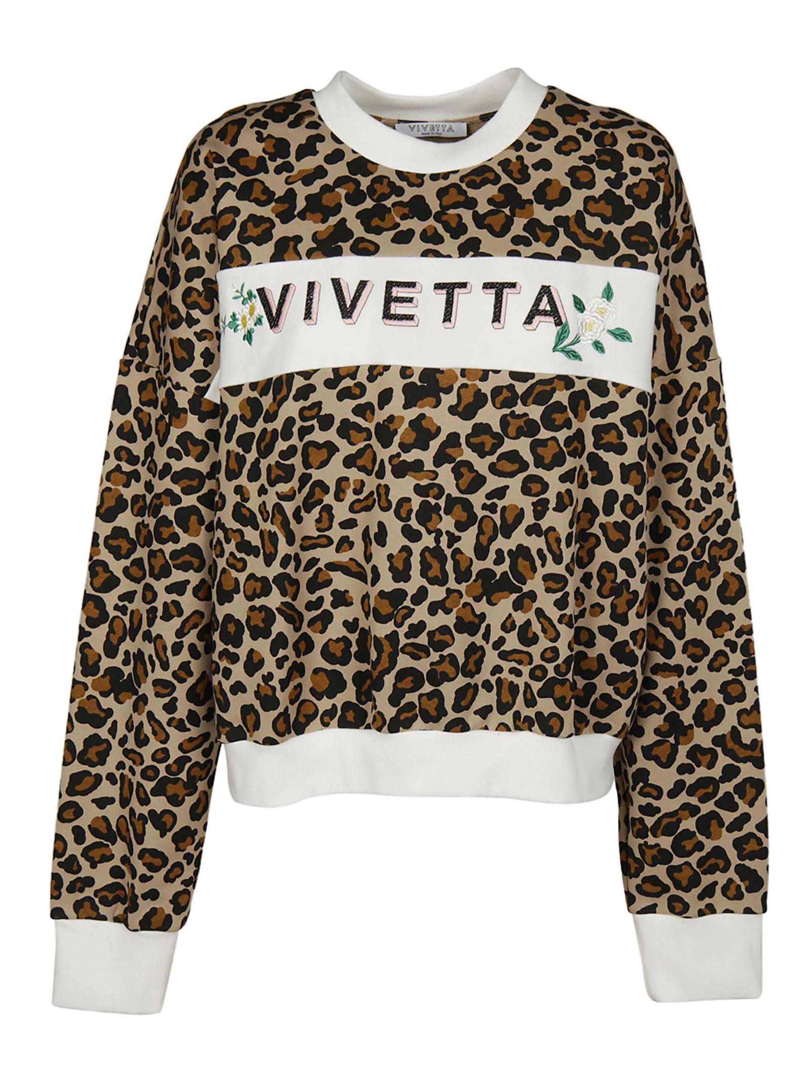Vivetta Leopard Pattern Sweatshirt