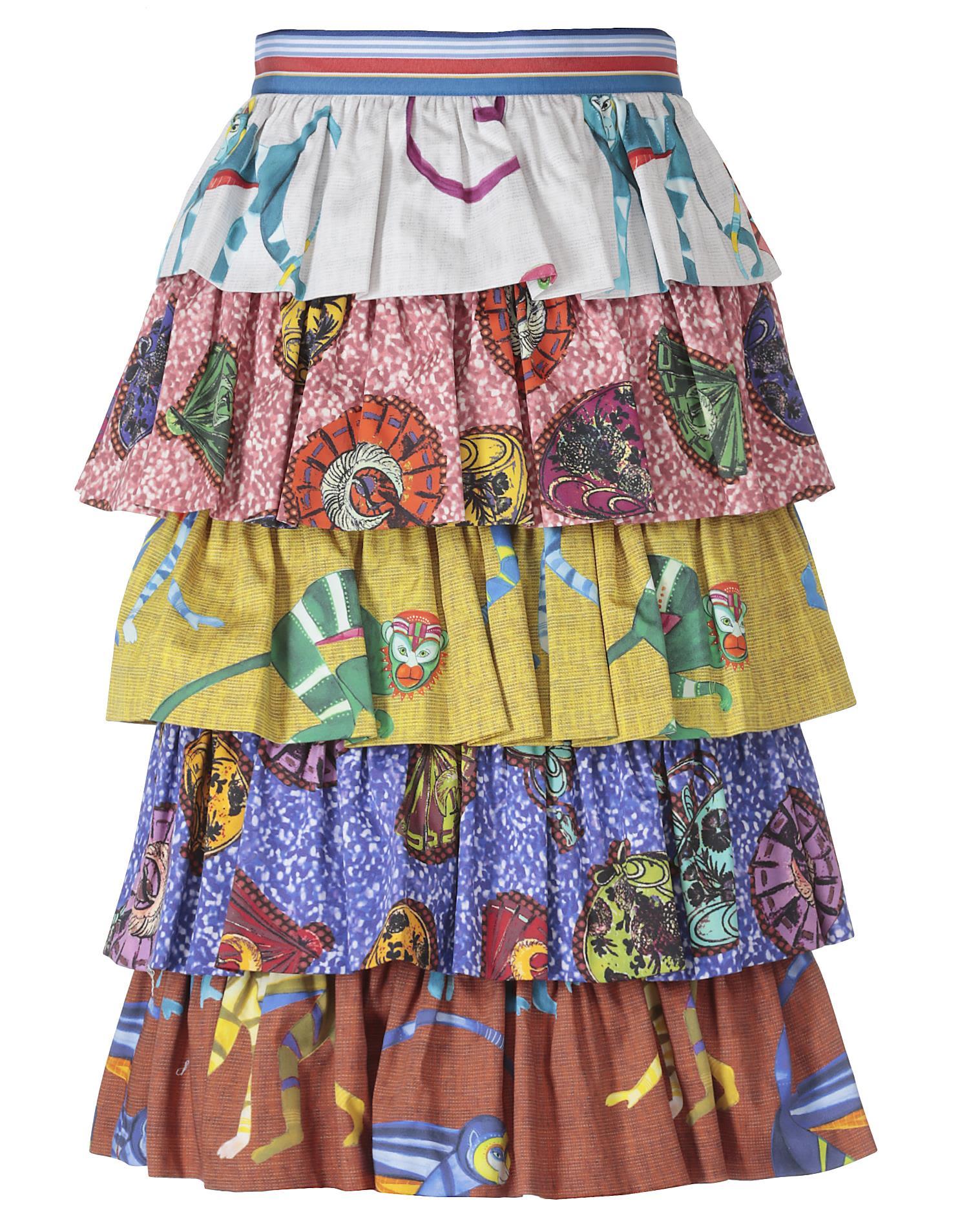 Stella Jean Cotton Skirt