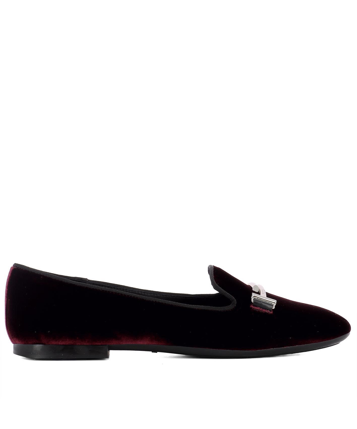 Bordeaux Velvet Loafers