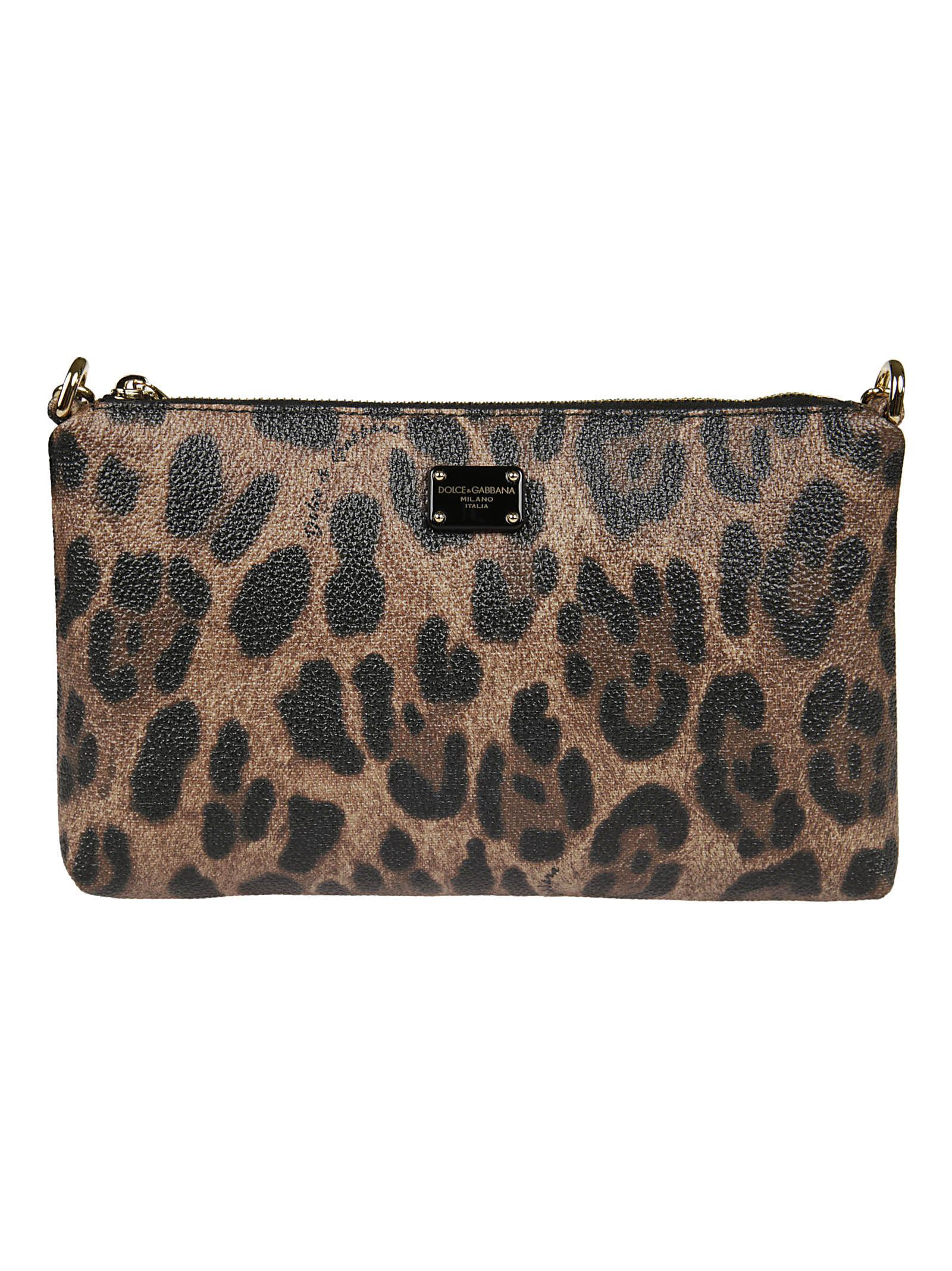 Dolce & Gabbana Mini Faux Leo Shoulder Bag