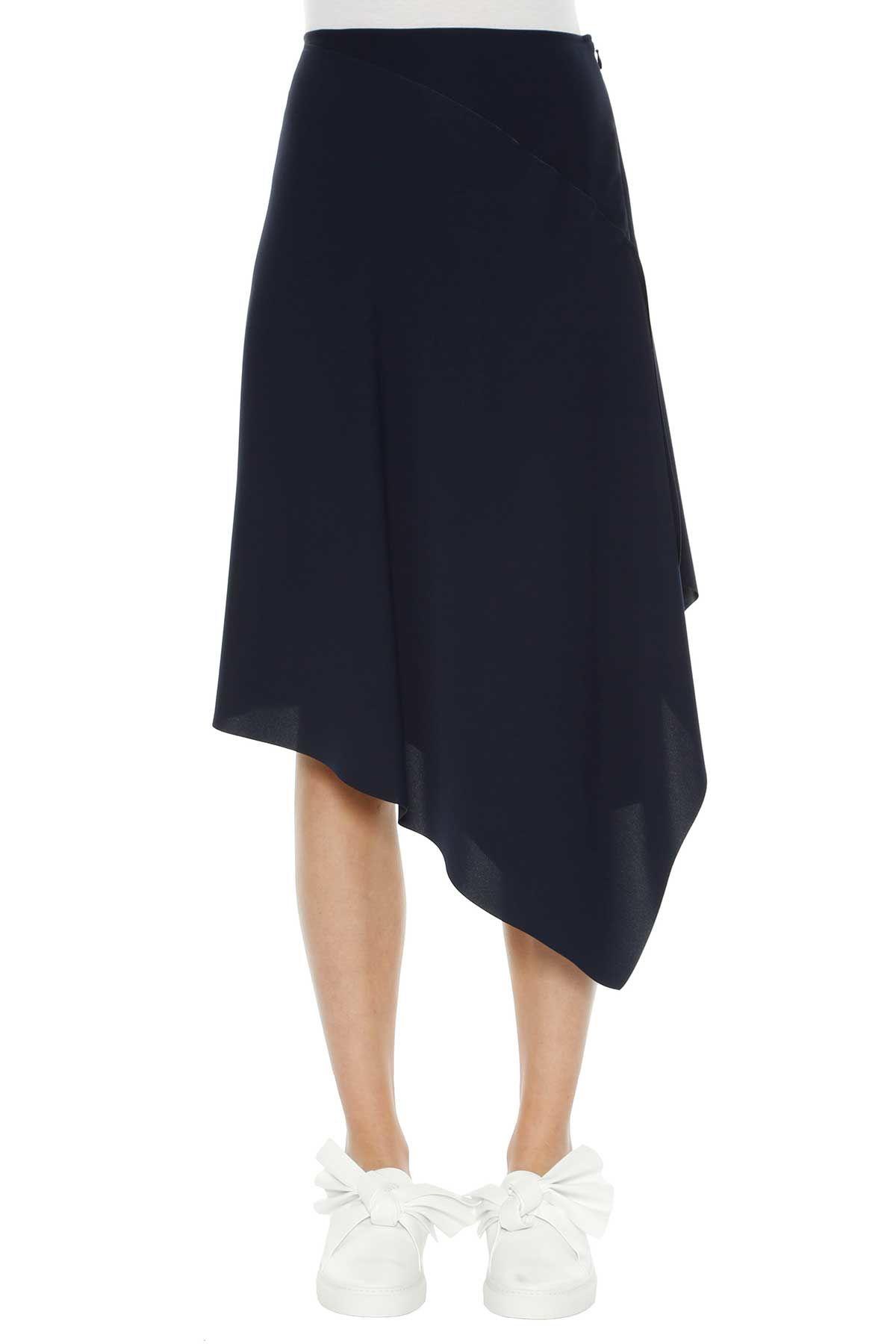 Cedric Charlier Asymmetric Midi Skirt
