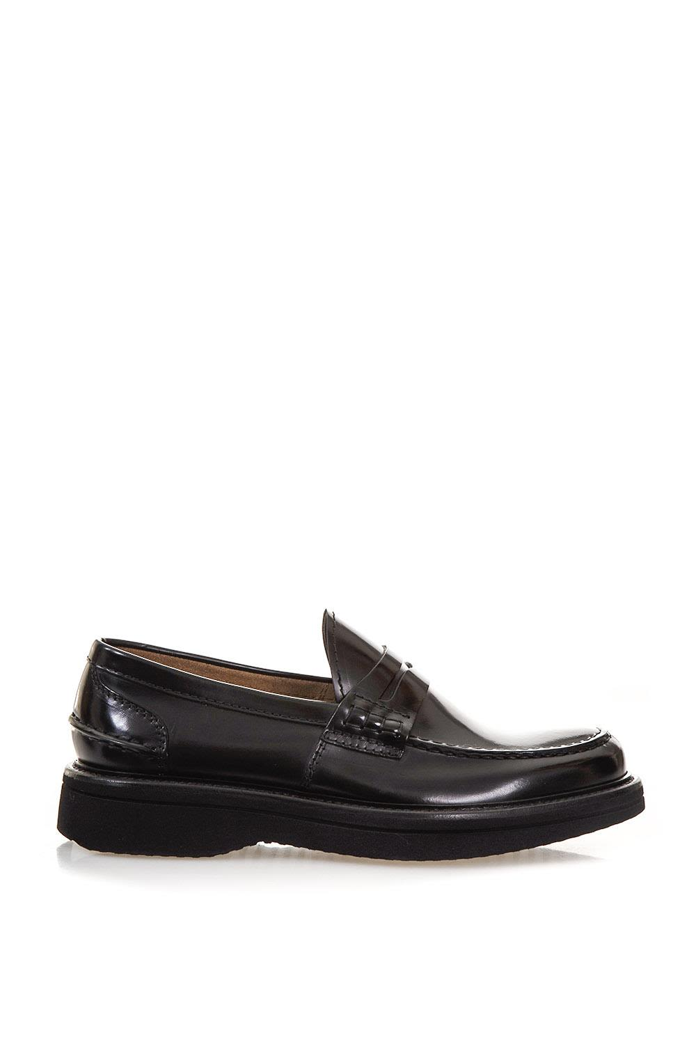 GREEN GEORGE POLISHED LEATHER LOAFERS