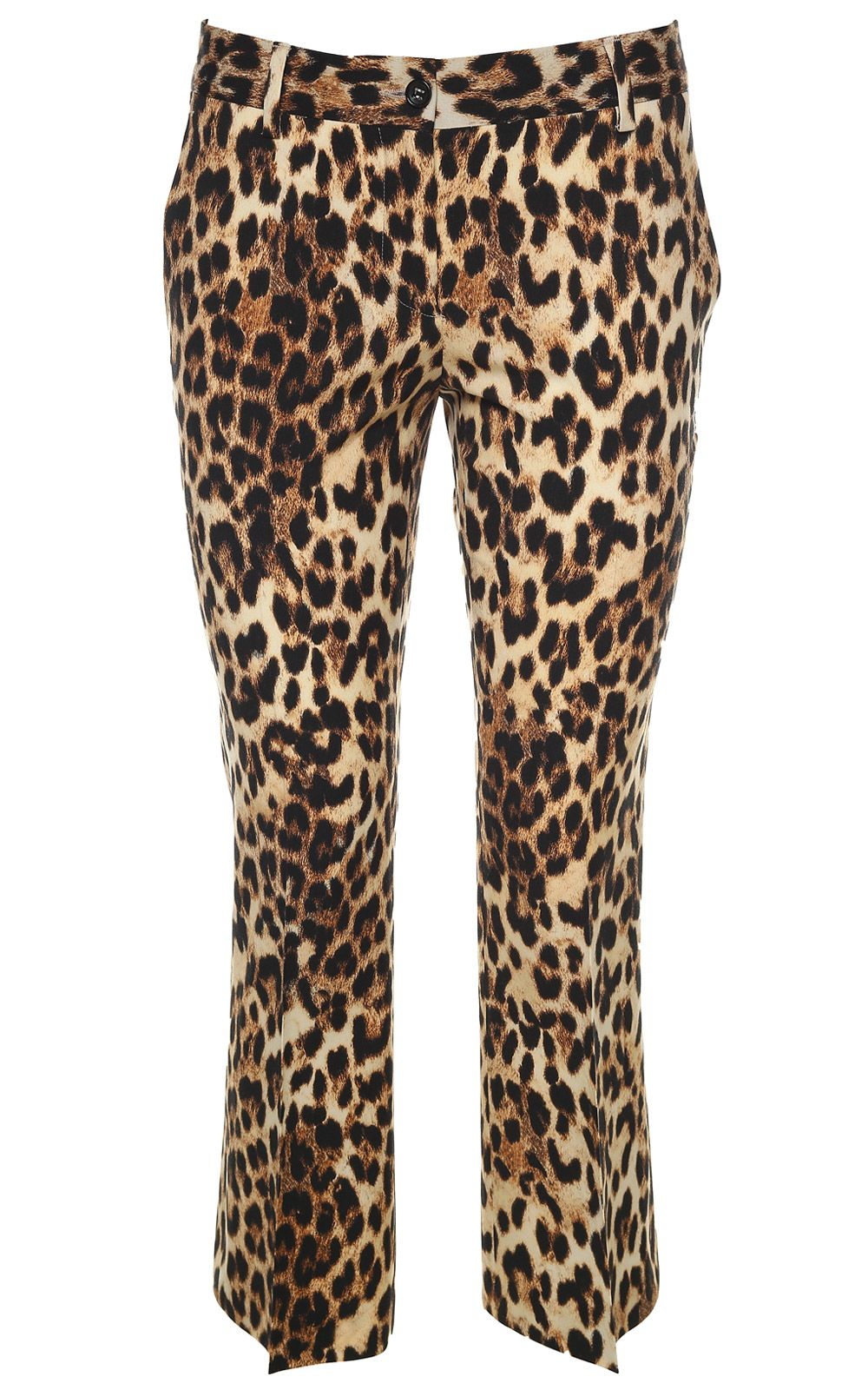 Alberto Biani Leopard-print Wool-blend Cropped Trousers