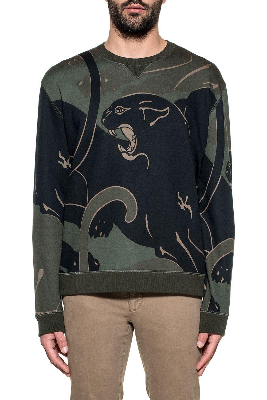 Green/black Camupanther Sweatshirt