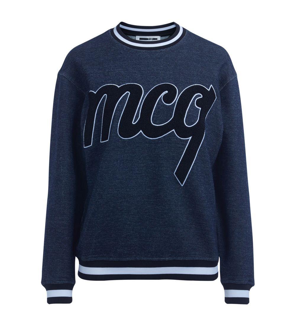 Mcq Alexander Mcqueen Blue Indigo Jersey Fleece