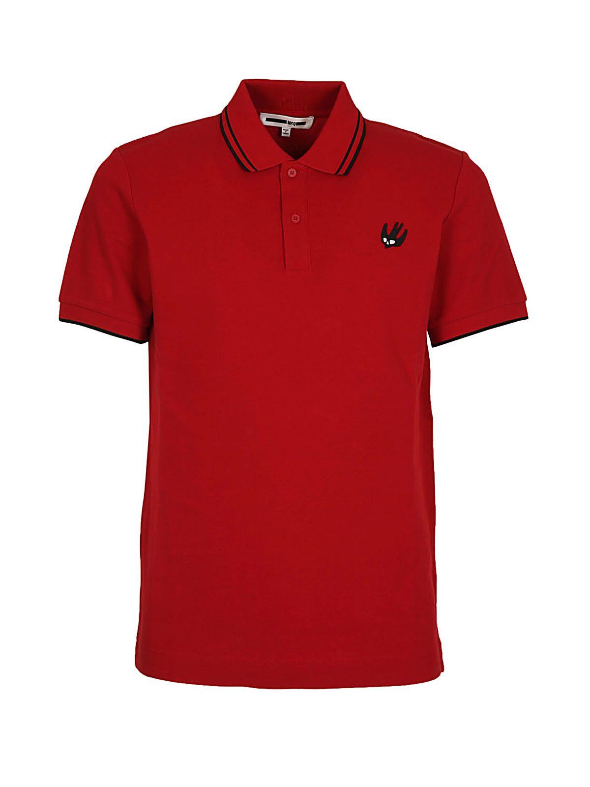 Mcq Alexander Mcqueen Swallow Badge Polo Shirt