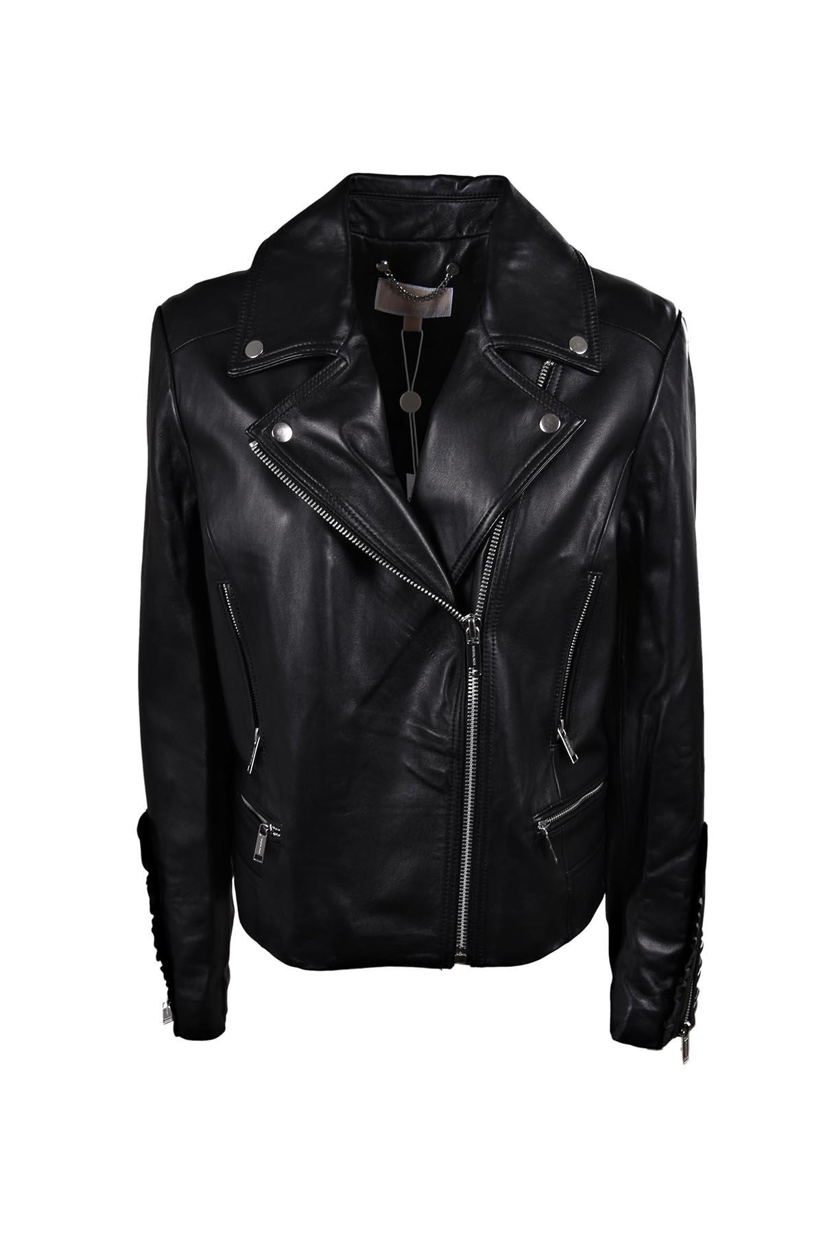Michael Kors Frill Moto Jacket