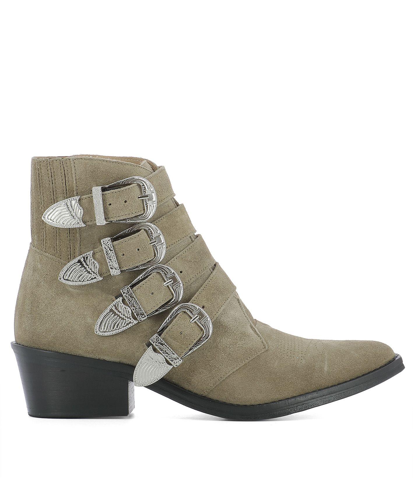 toga pulla beige suede ankle boots beige women 39 s boots italist. Black Bedroom Furniture Sets. Home Design Ideas