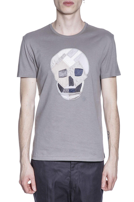 Alexander McQueen Skull Patch Cotton T-shirt