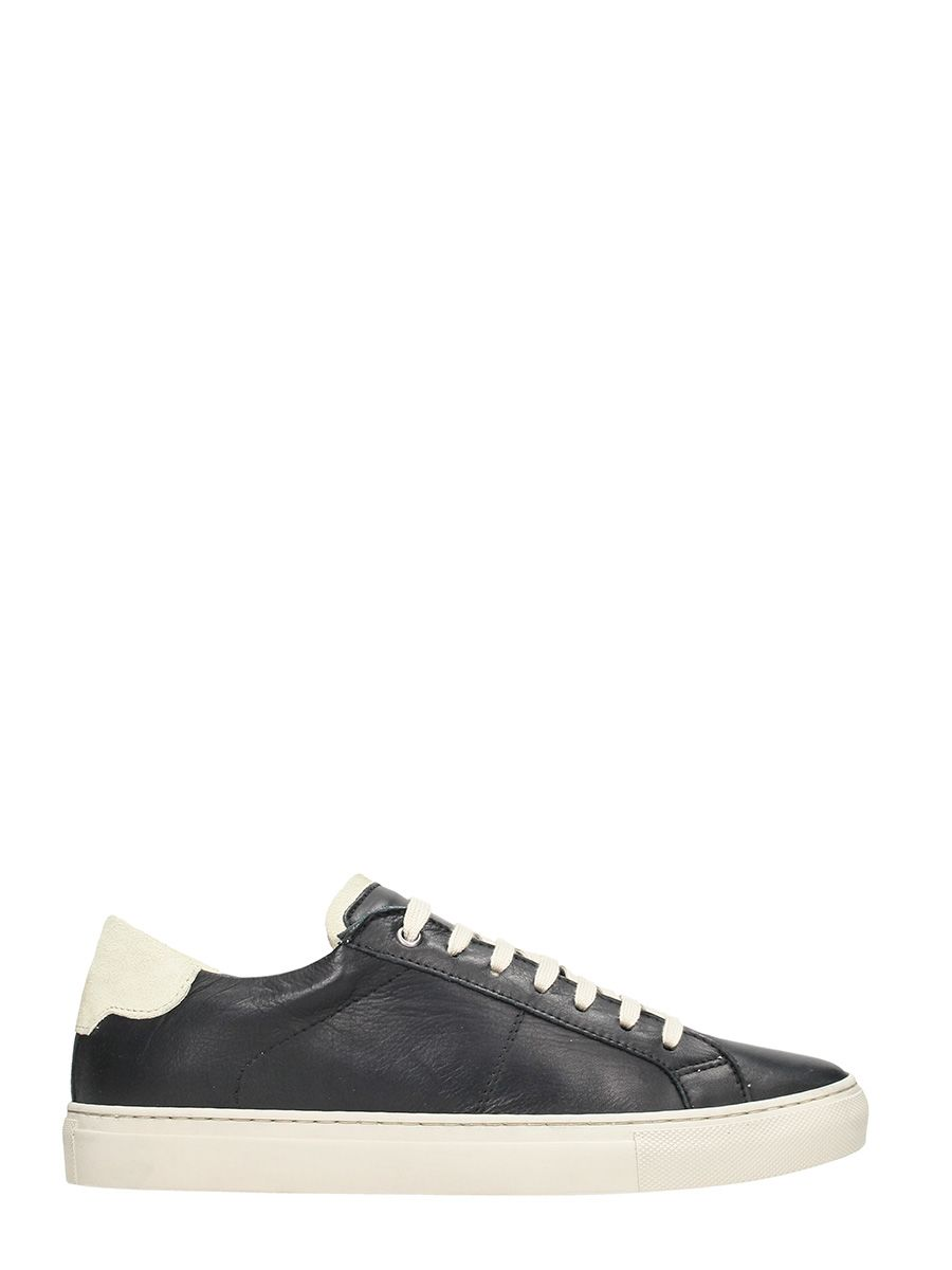Low Brand Rolando Black Leather Low Sneakers