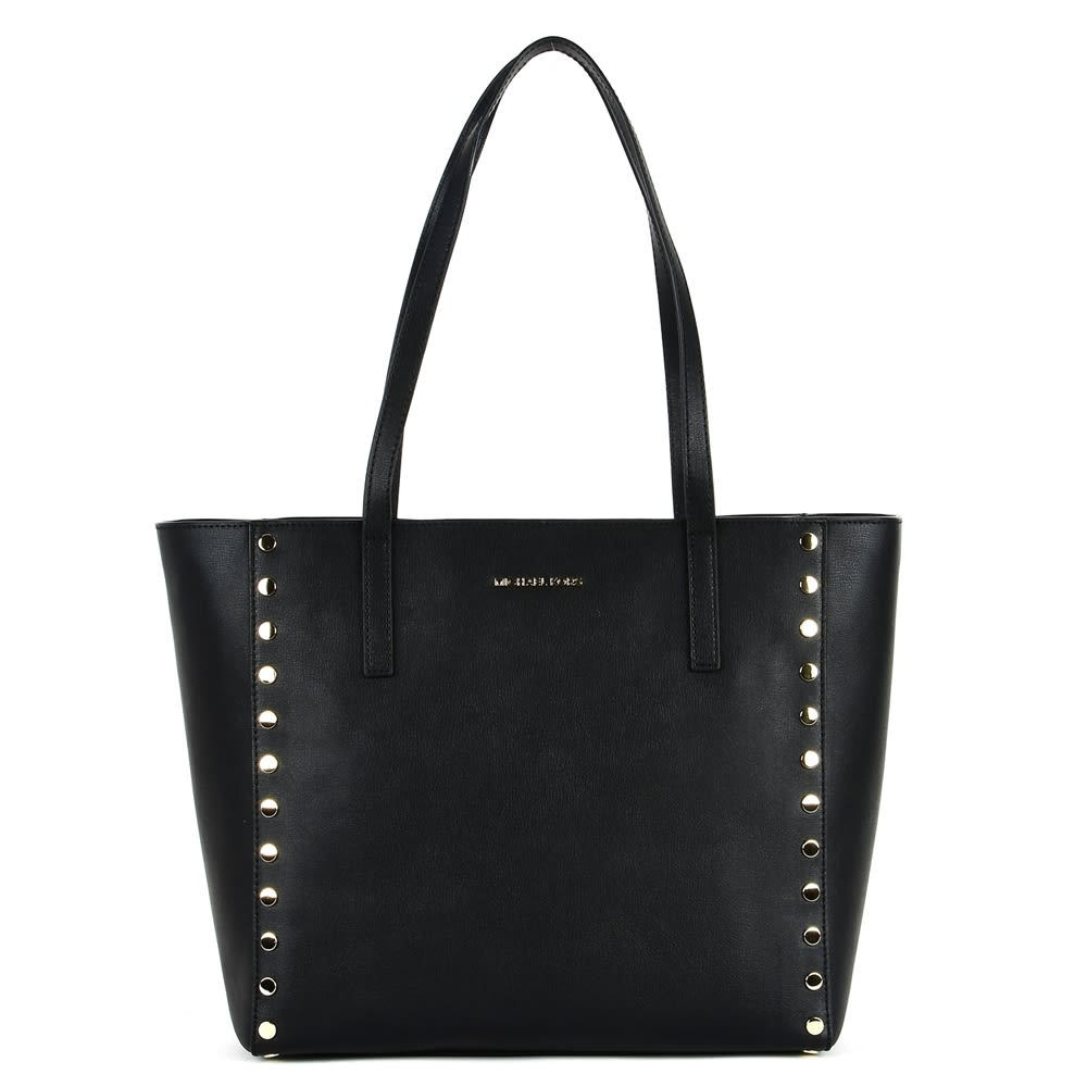 MICHAEL Michael Kors Michael Michael Kors Black Large Rivington Bag In Leather