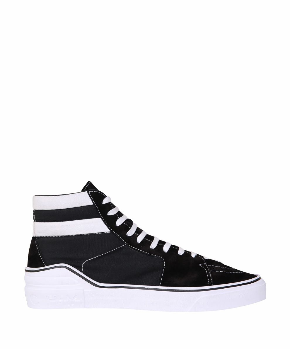 Givenchy Suede-trimmed High-top Sneakers