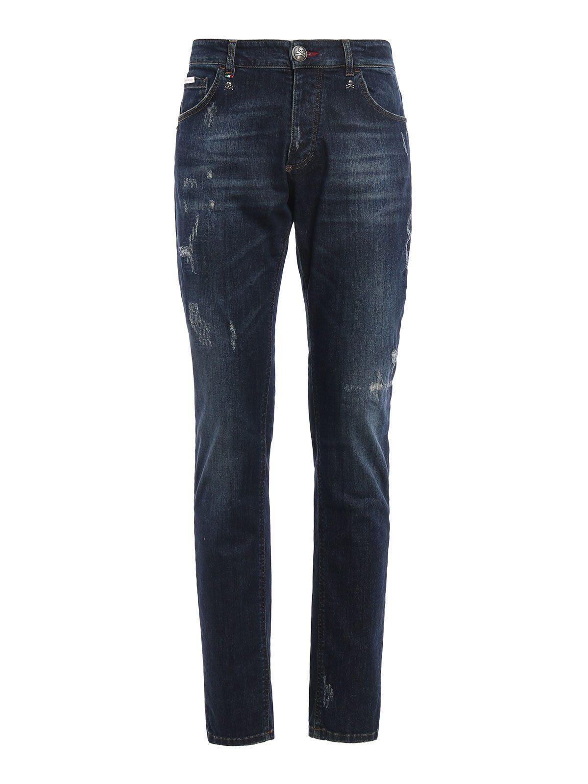 philipp plein philipp plein akio jeans blue men 39 s jeans italist. Black Bedroom Furniture Sets. Home Design Ideas