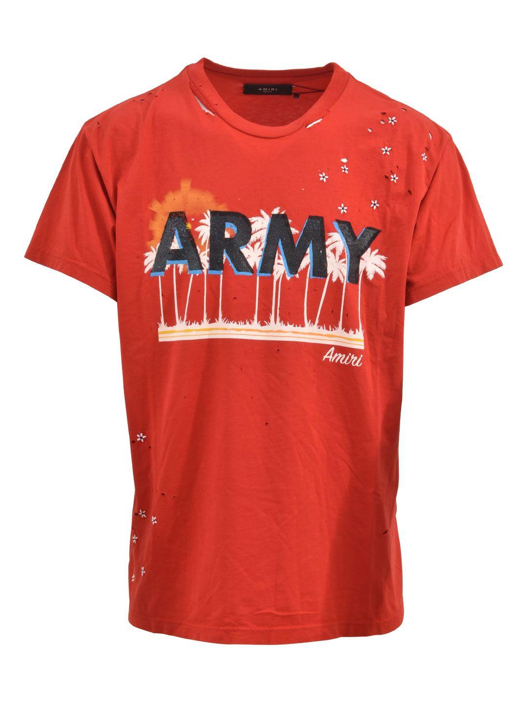 AMIRI Army Red T-shirt