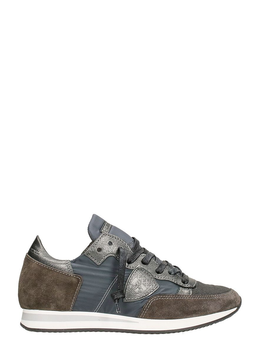philippe model philippe model tropez grey suede sneakers grey women 39 s sneakers italist. Black Bedroom Furniture Sets. Home Design Ideas