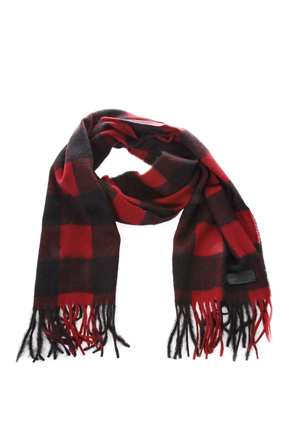Dsquared2 Checked Motif Wool & Alpaca Scarf