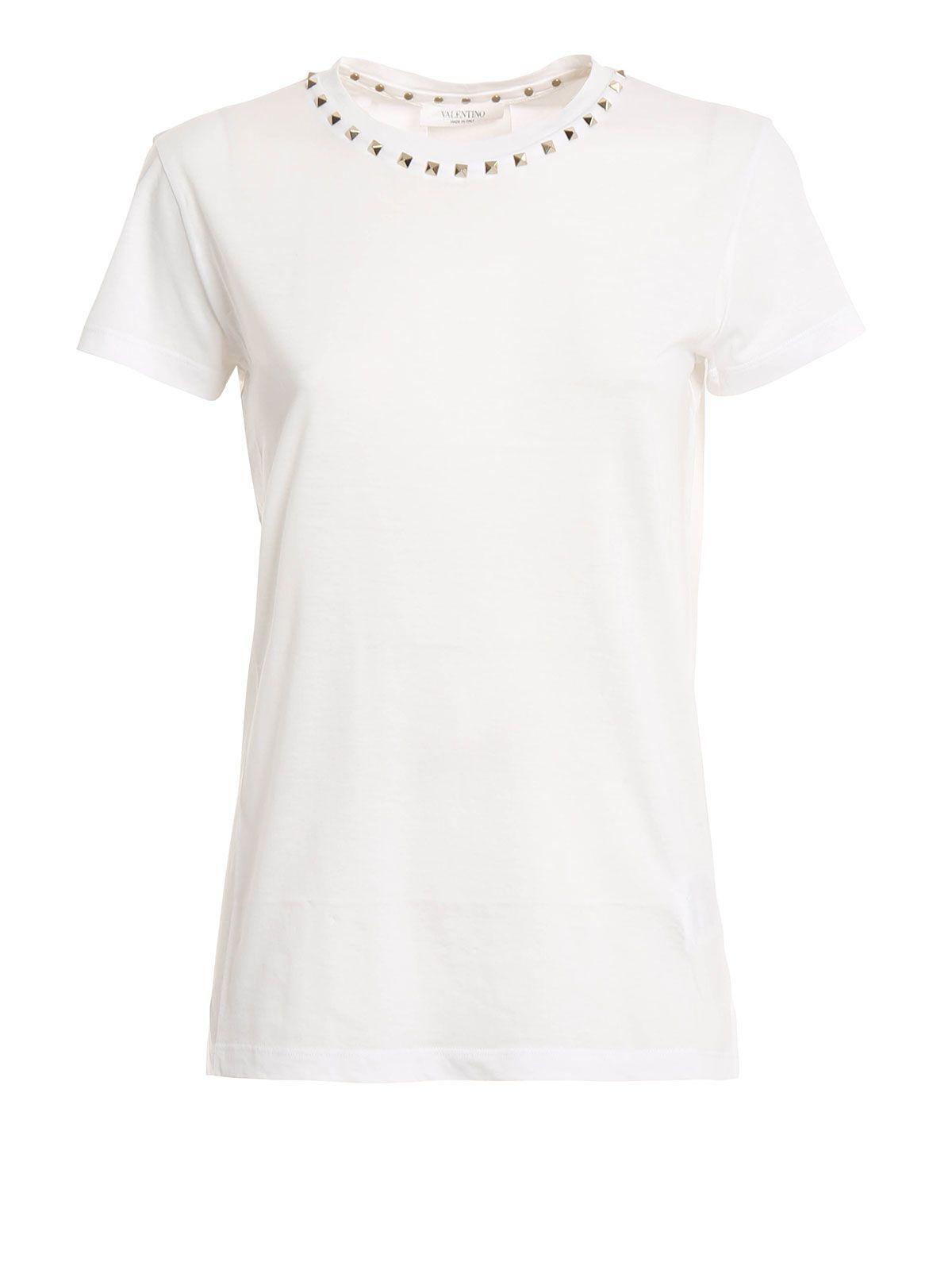 Valentino Rockstud Embellished T-shirt