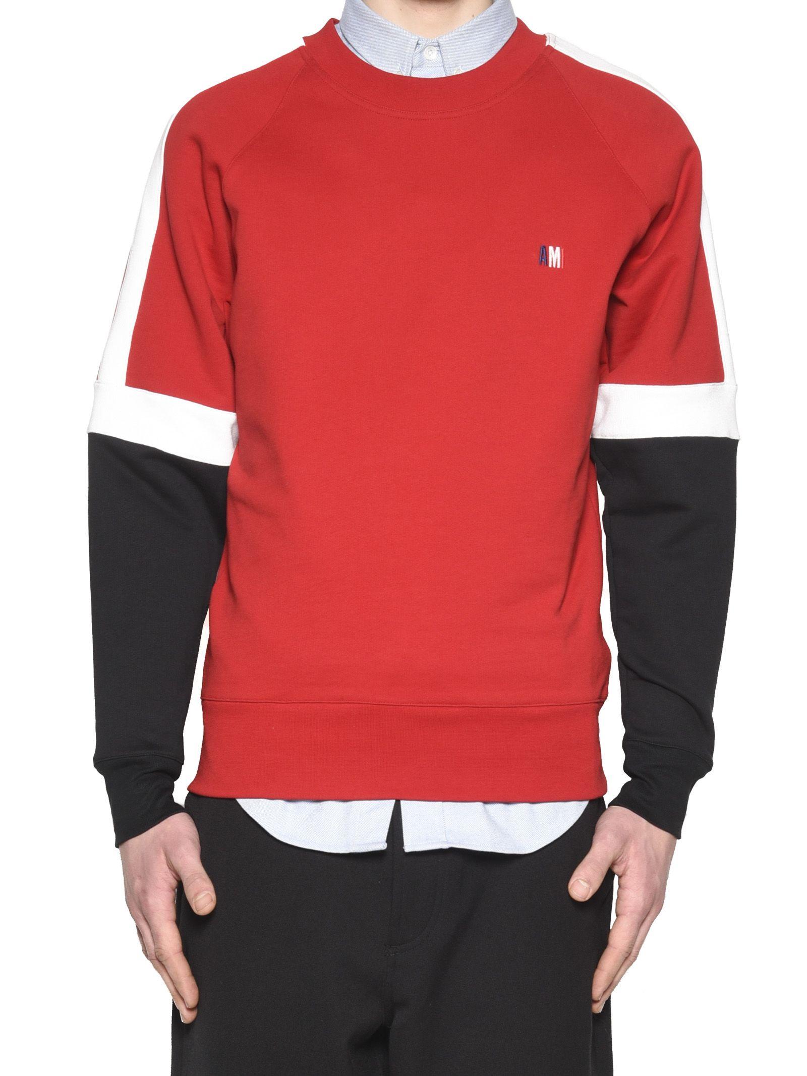Ami Alexandre Mattiussi - Ami Alexandre Mattiussi Sweatshirt - Red ...