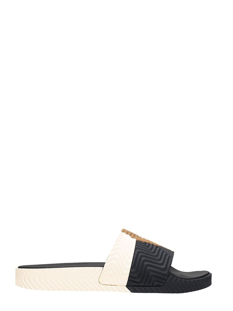 Adidas Original by Alexander Wang Adilette Rubber Brown-black Flats Sandals