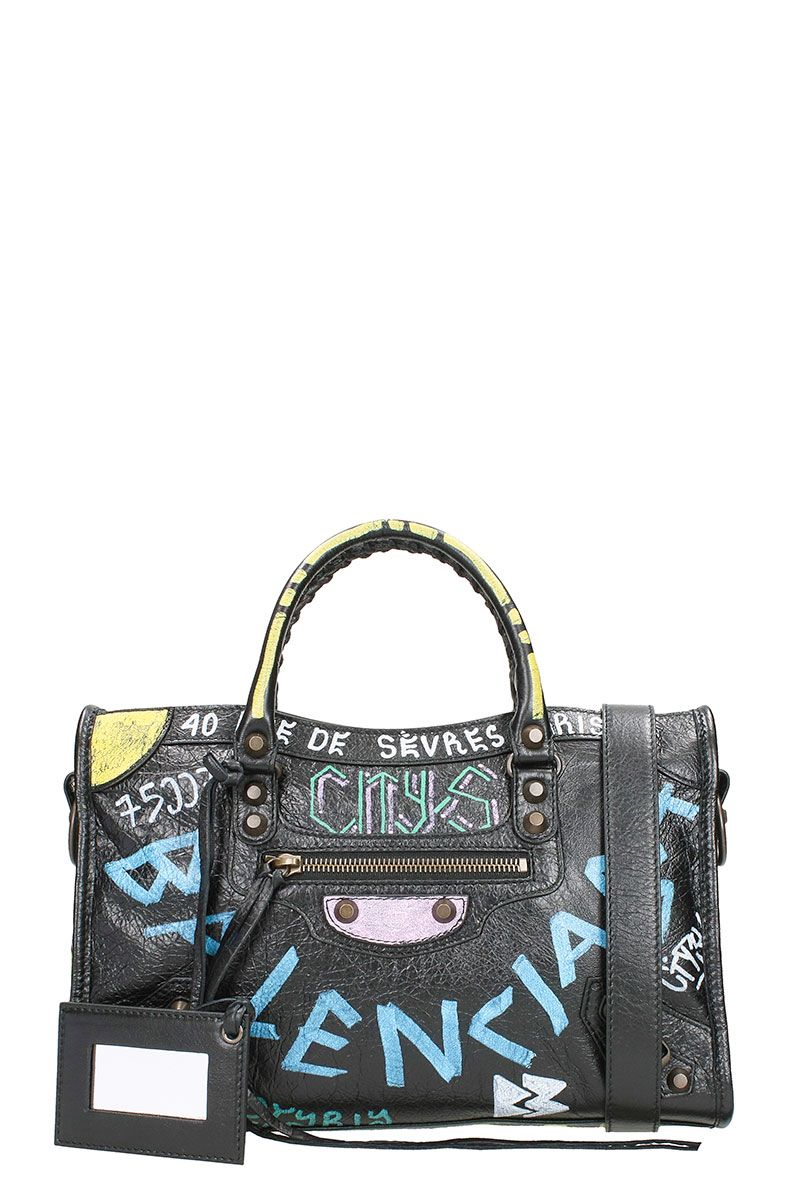 CLASSIC CITY S ARENA GRAFFITI SMALL LEATHER SHOULDER BAG