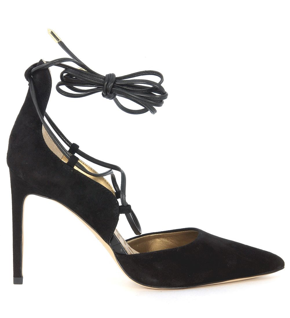 Sam Edelman Dayna Pointed-toe Decolletè In Black Suede