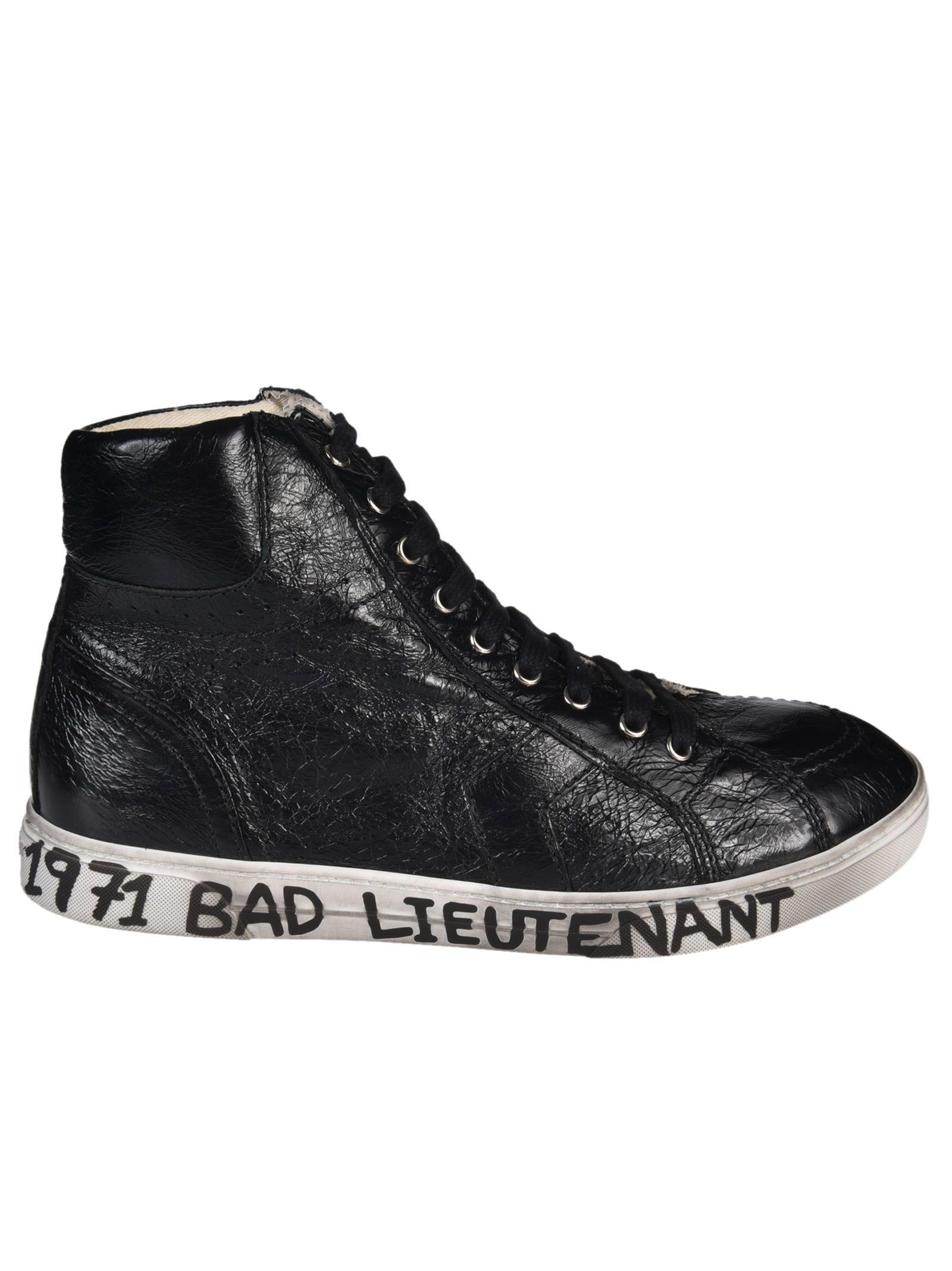Saint Laurent Joe Mid Top Sneakers