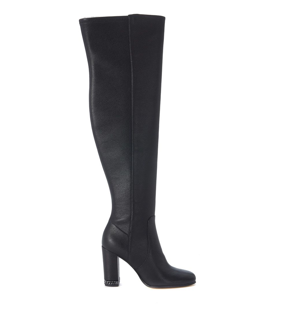 Michael Kors Sabrina Boots In Black Elastic Leather