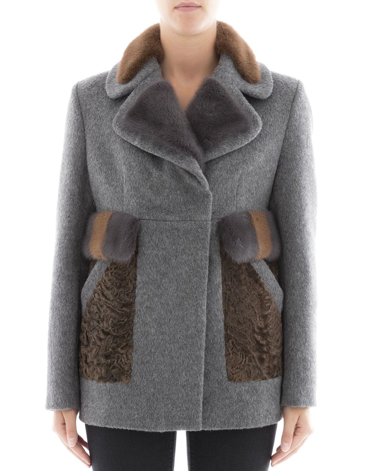 Grey Alpaca Coat