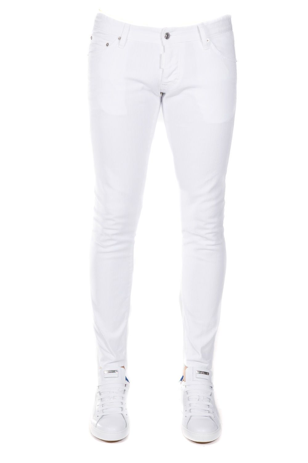 Dsquared2 Skinny Fit Cotton Stretch Jeans