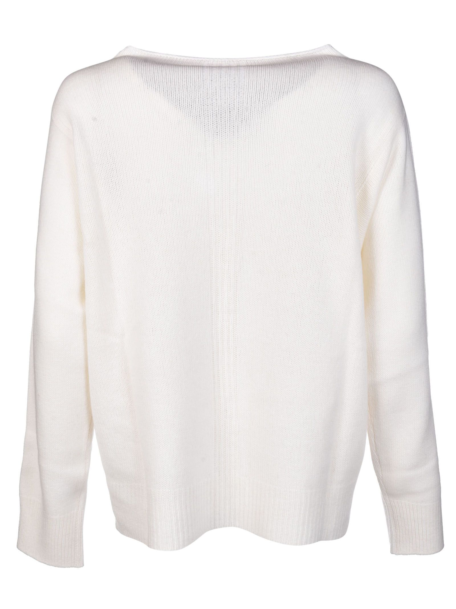 Lorena Antoniazzi - Lorena Antoniazzi Pom-Pom Embroidered Sweater ...