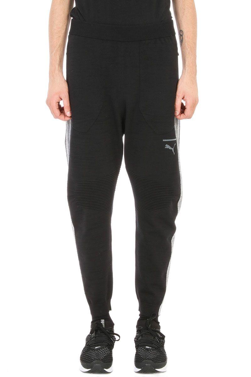 Puma Black Evoknit Move Cotton Trousers