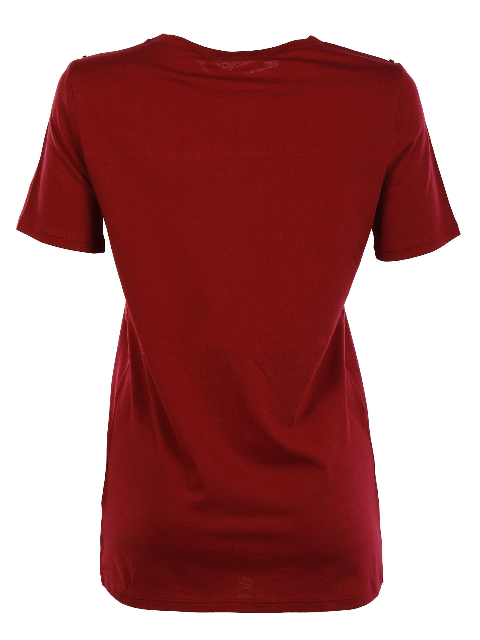 Gucci gucci cotton and silk embrodered t shirt red for Cotton silk tee shirts