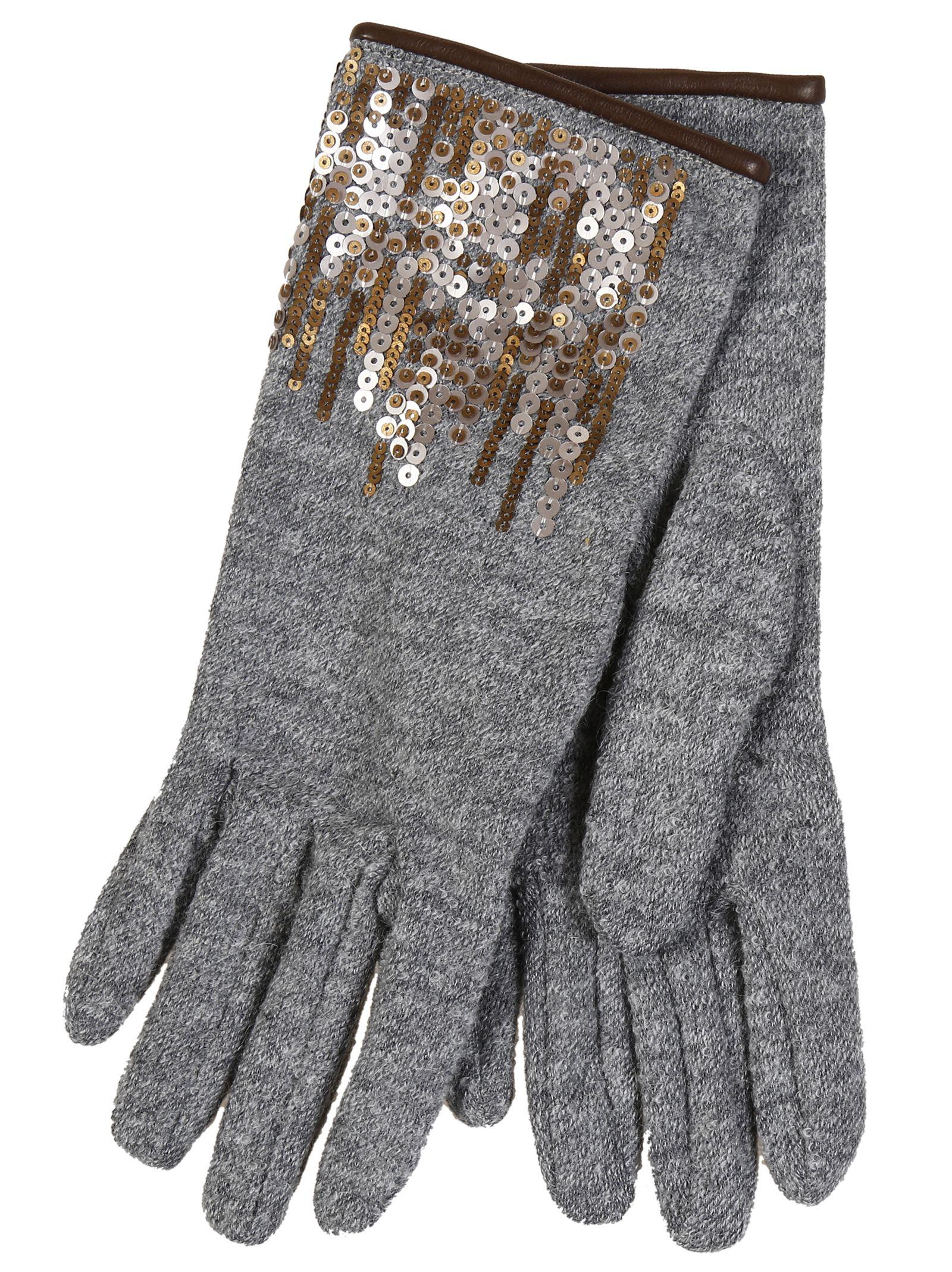 Restelli Alpaca Gloves With Paiettes