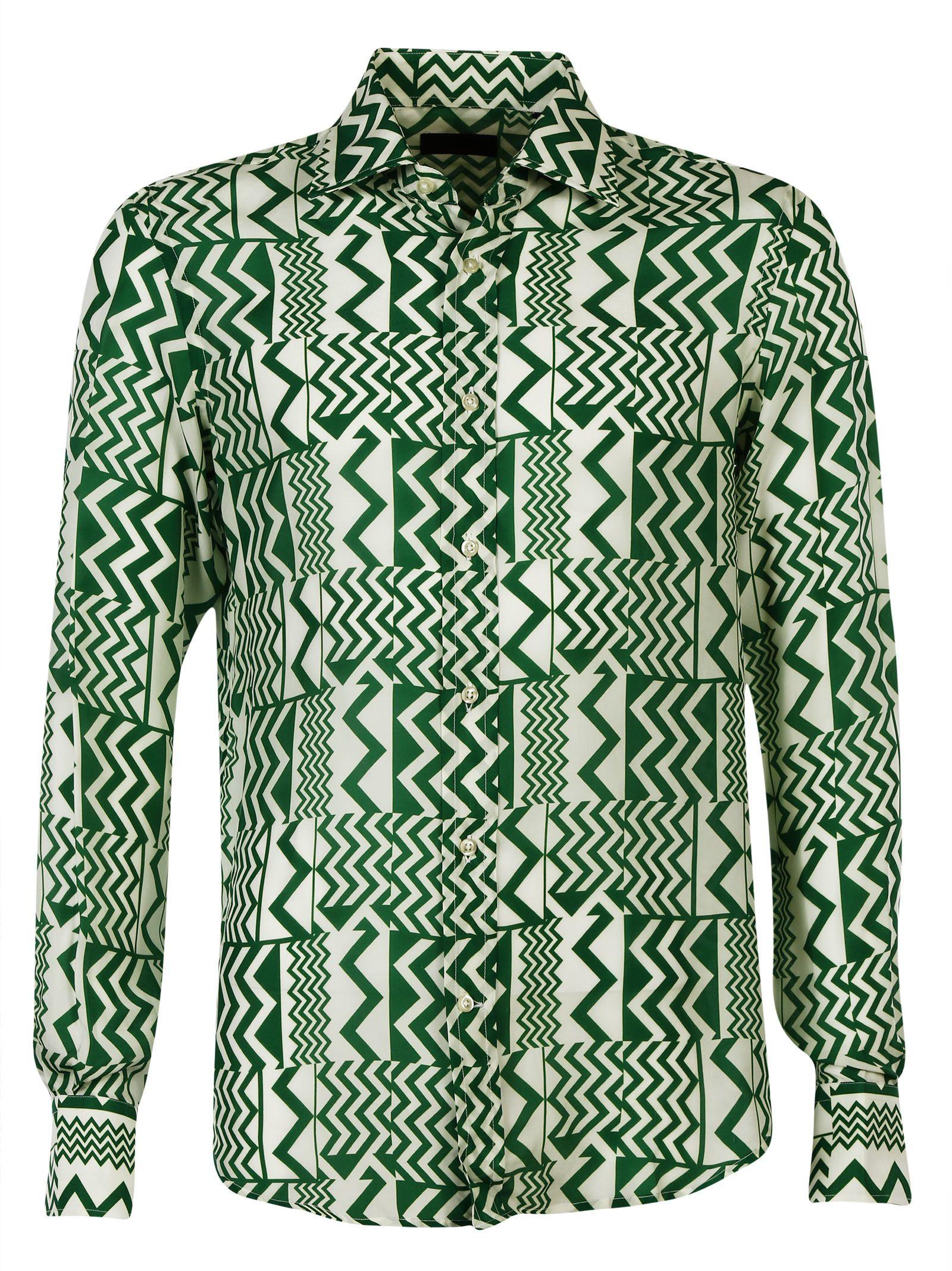 Luchino Camicie Silk Slimfit Shirt