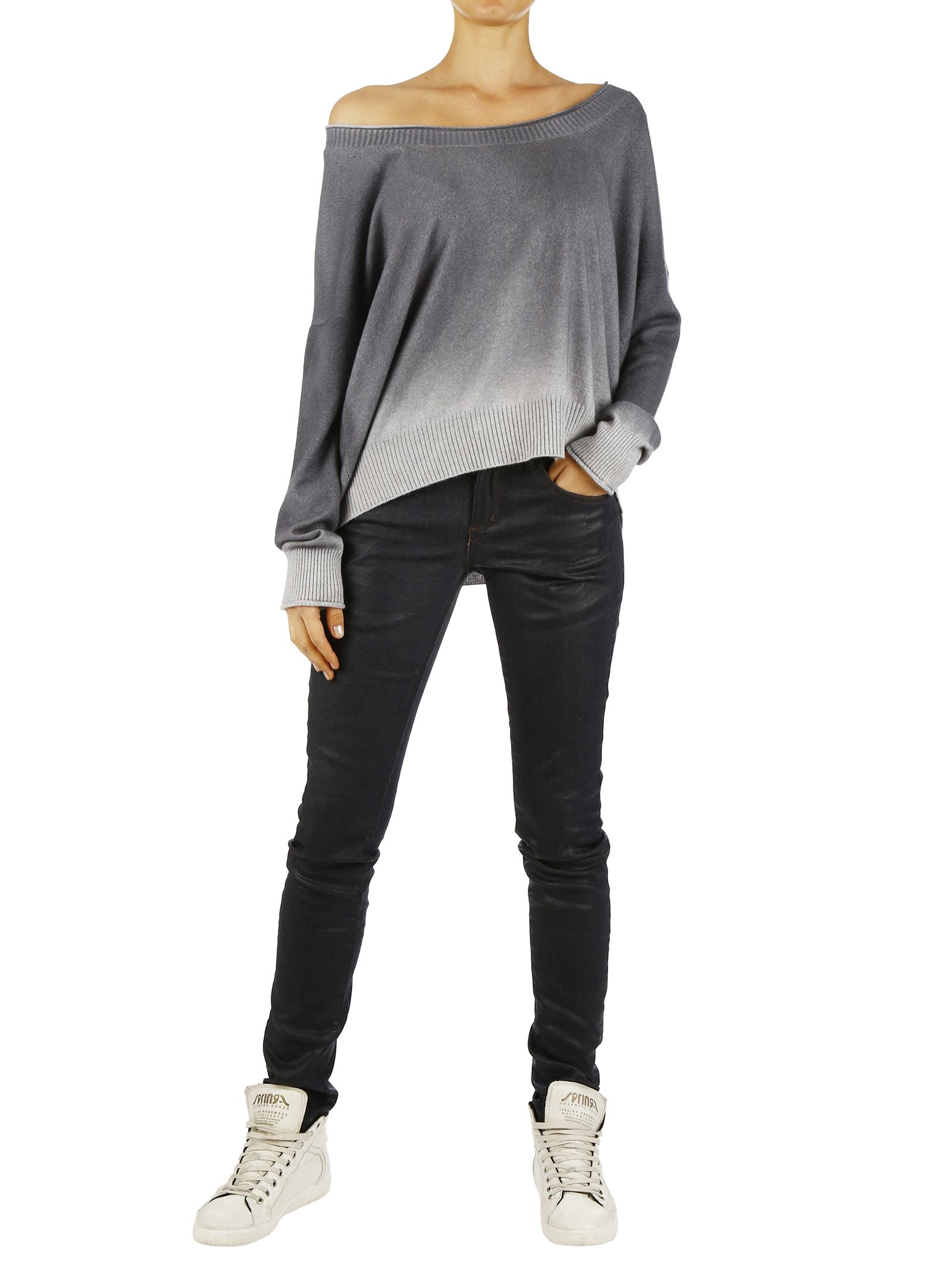 Cashmere CollectionOver Fit Sweater With Shade Effect