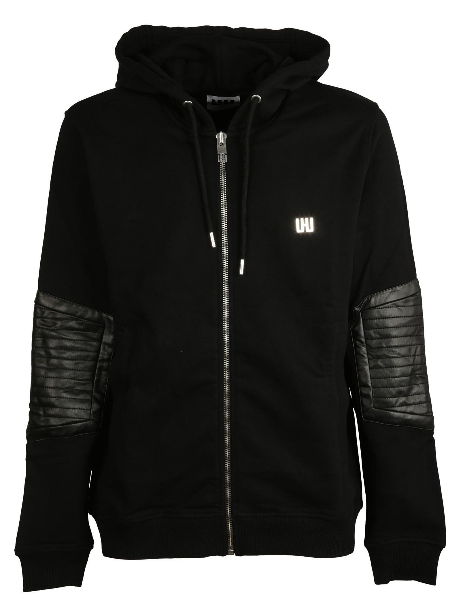 Les Hommes Classic Elbow Patches Hoodie
