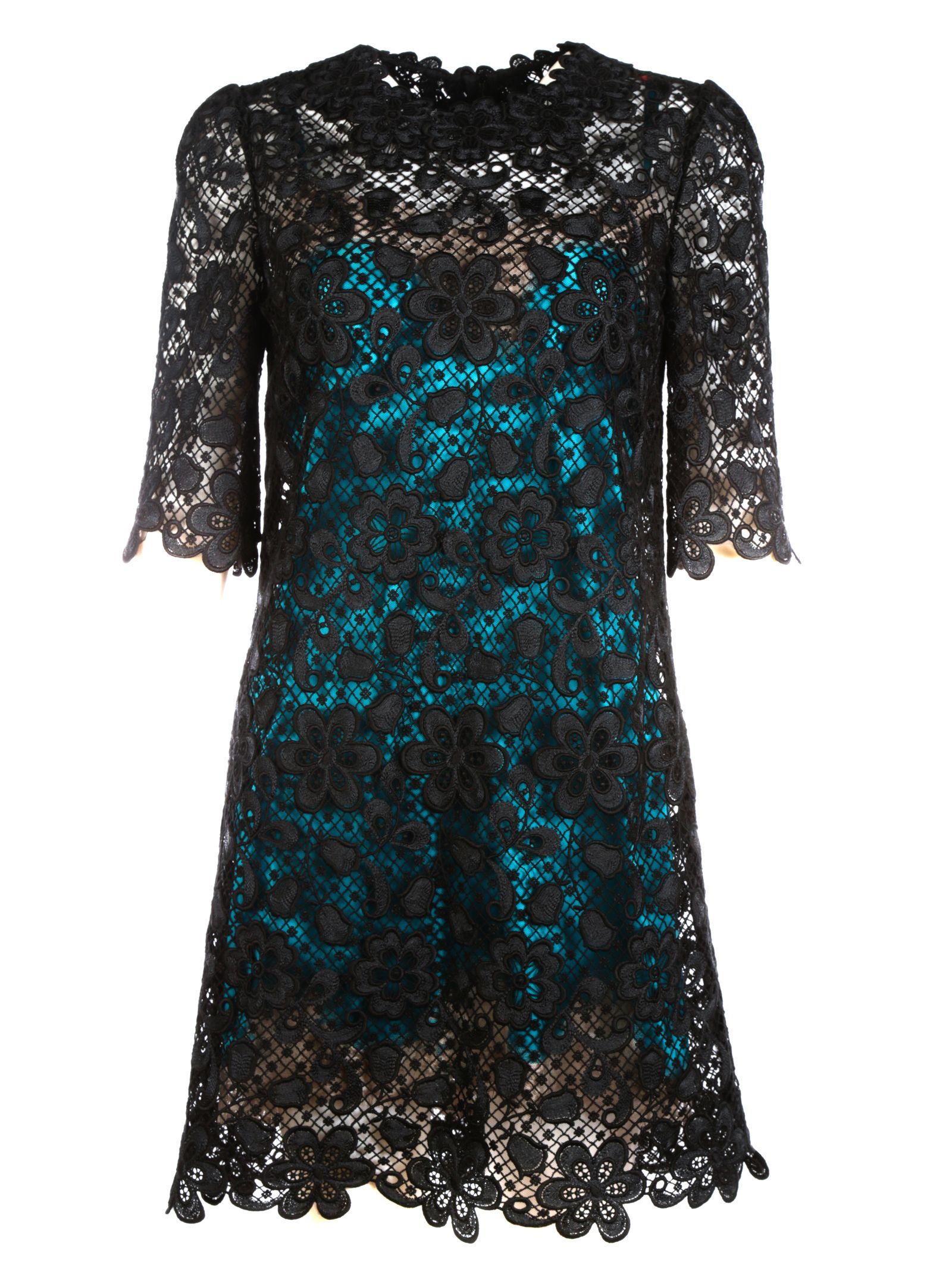 Dolce & Gabbana Contrast Lining Lace Dress