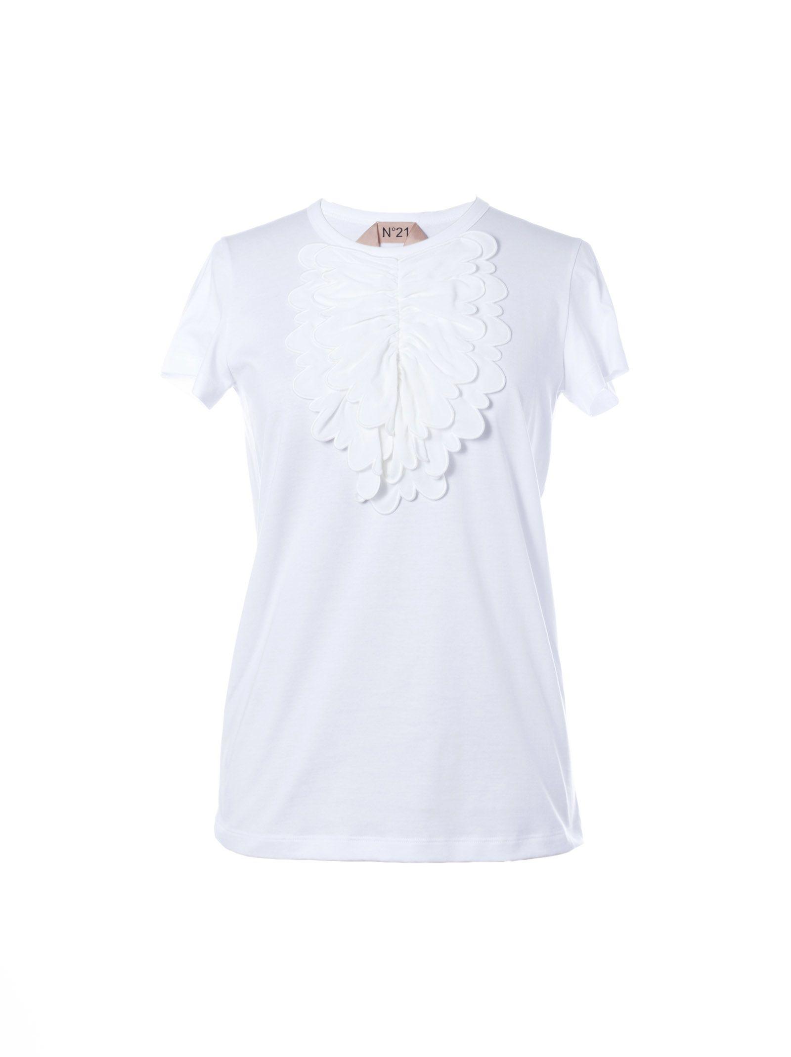 N.21 Scalloped Bib T-shirt