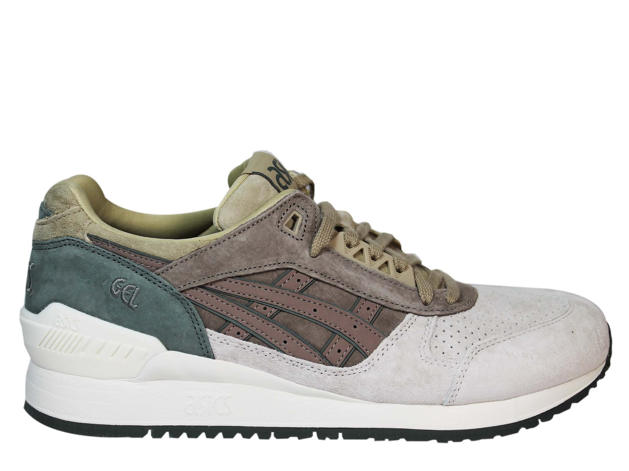 Asics Taupe Grey Gel Respector Low Sneakers